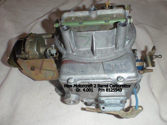 Motorcraft carb the amc forum page 1 for Matador motors lubbock tx
